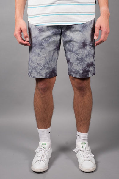 Charcoal Grey Tie Dye Poplin Shorts