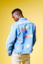 Pride Love is Love Denim Jacket