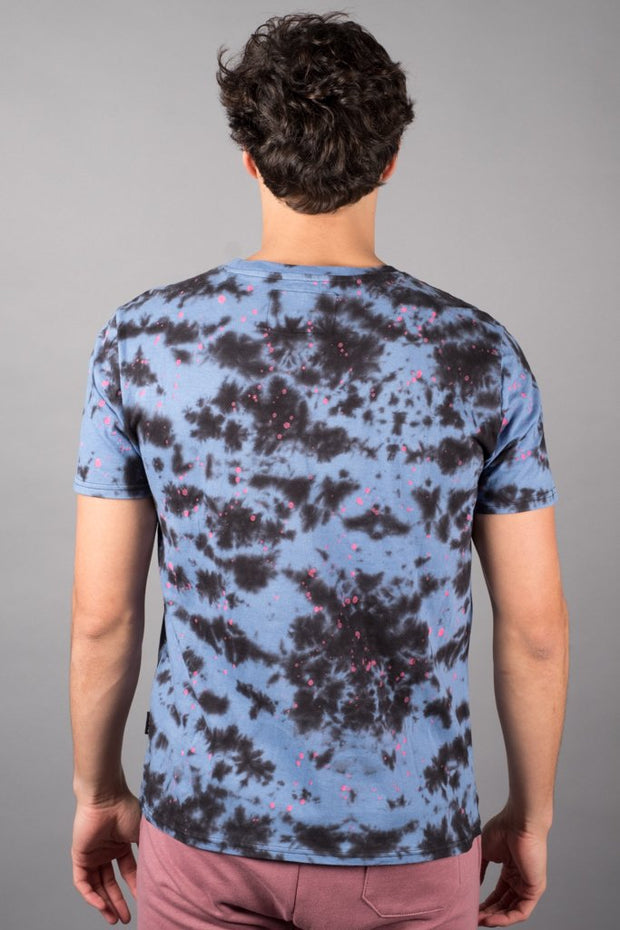 Blue Tie Dye T-Shirt for Men