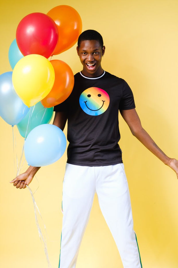 unisex Rainbow Smiley Tee