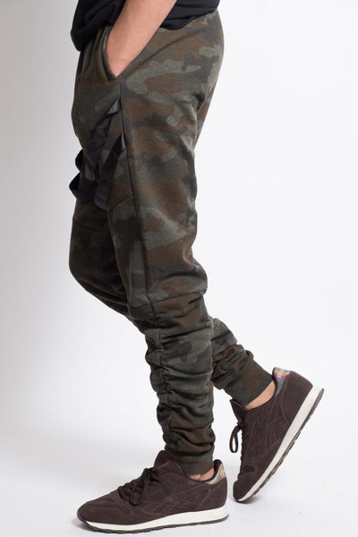 Camo Strappy Jogger Pants