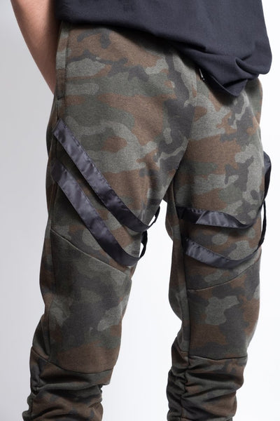 Strappy Jogger Pants for Men in Camo