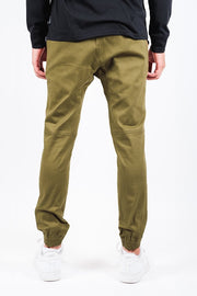 Brooklyn Cloth Army Green Side Zipper Pocket Twill Jogger Pants