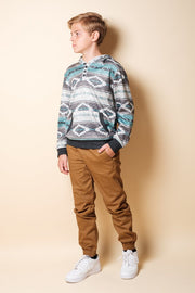 Brooklyn Cloth Youth Boys Tobacco Zipper Jogger Pants