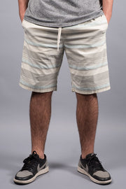 Royal Blue Striped Poplin Shorts