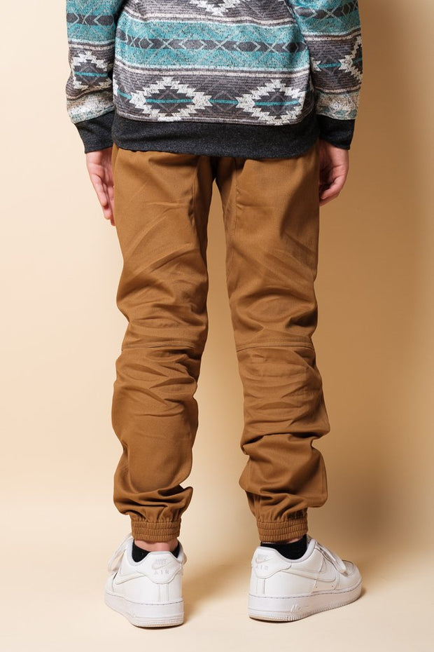 Brooklyn Cloth Boys Tobacco Zipper Jogger Pants