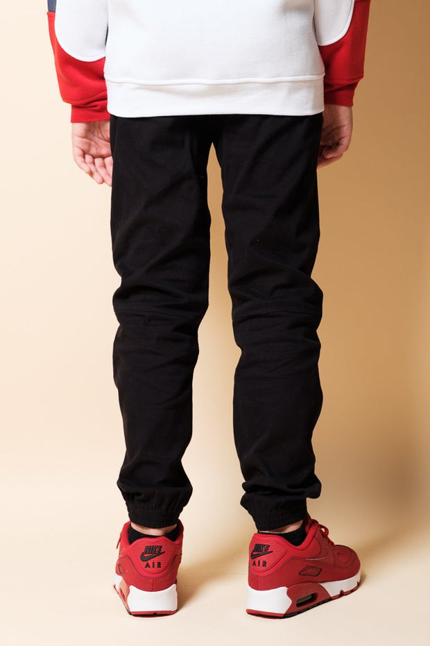 Boys Black Jogger Pants