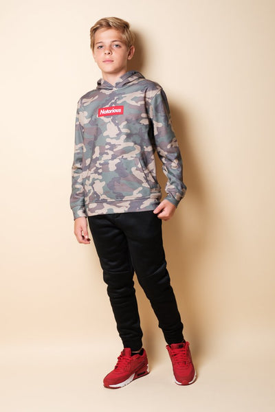 Boys Camo Hoodie at Brooklyn Cloth