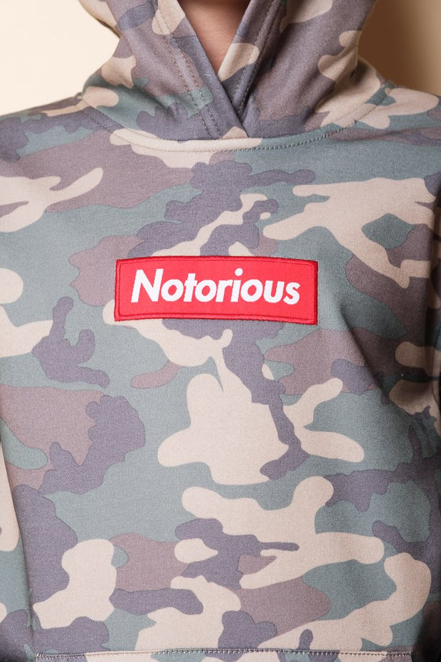 Boys Camo Notorious Pullover Hoodie