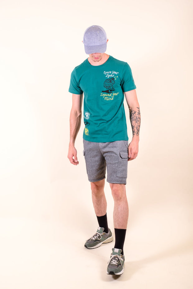 Boys' White Side Stripe Shorts Brooklyn Cloth