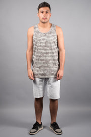Brooklyn Cloth Men's Grey Striped Tank Top