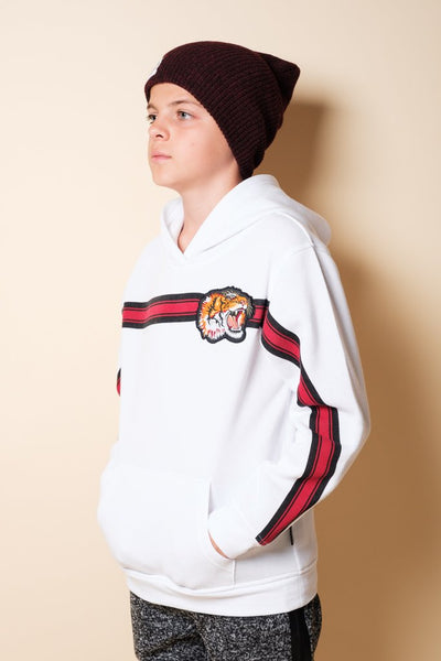 Brooklyn Cloth Boys White Tiger Hoodie
