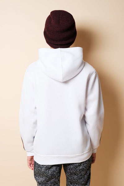 Boys White Tiger Hoodie at Brooklyn Cloth