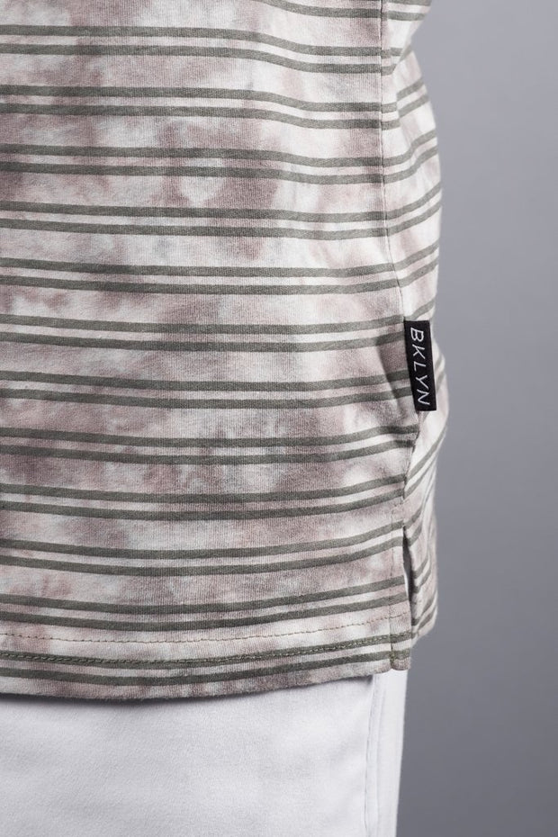 Men's Grey Striped Tank Top