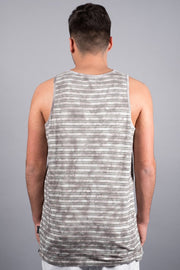 Brooklyn Cloth Grey Striped Tank Top