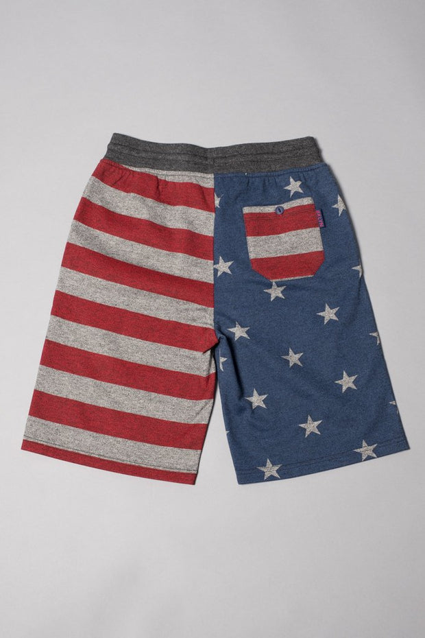 Boys' Stars and Stripes Jogger Shorts at Brooklyn Cloth