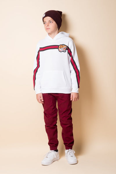Brooklyn Cloth Boys Burgundy Twill Jogger Pants