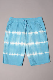 Boys' Blue Tie Dye Stripe Poplin Shorts