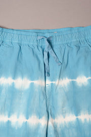Boys Blue Tie Dye Stripe Poplin Shorts