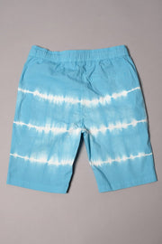 Boys Blue Tie Dye Poplin Shorts