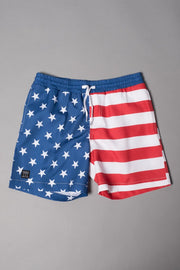 Boys' Stars and Stripes Swim Trunks