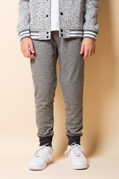 Boys Black Marl French Terry Jogger