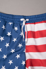 Boys Stars and Stripes Swim Trunks