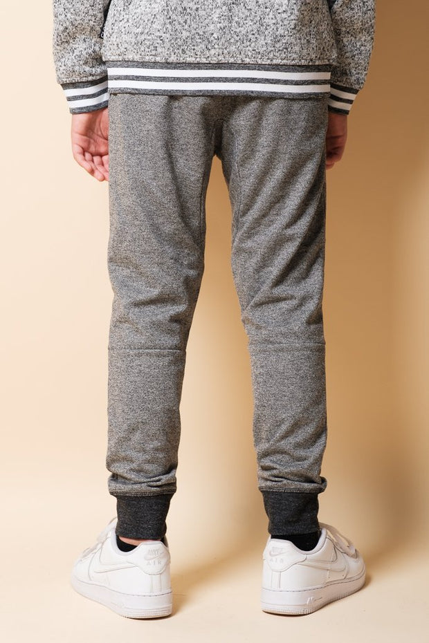 Boys Brooklyn Cloth Black Marl French Terry Jogger
