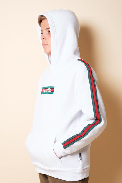 Brooklyn Cloth Boys White Hustle Hoodie