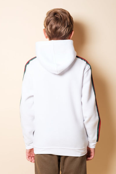 Boys Brooklyn Cloth White Hustle Hoodie