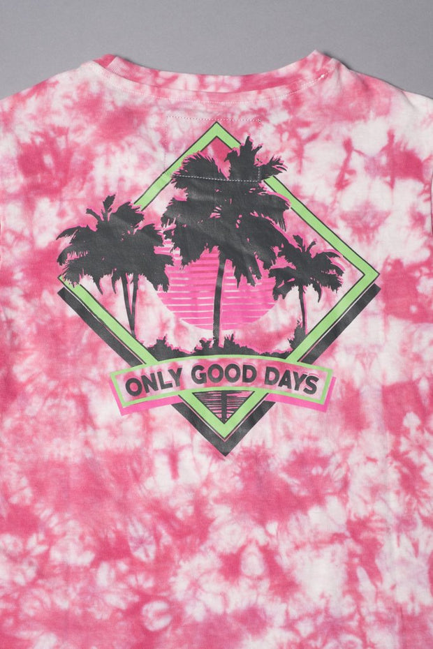 Brooklyn Cloth Boys Pink Tie Dye T-Shirt