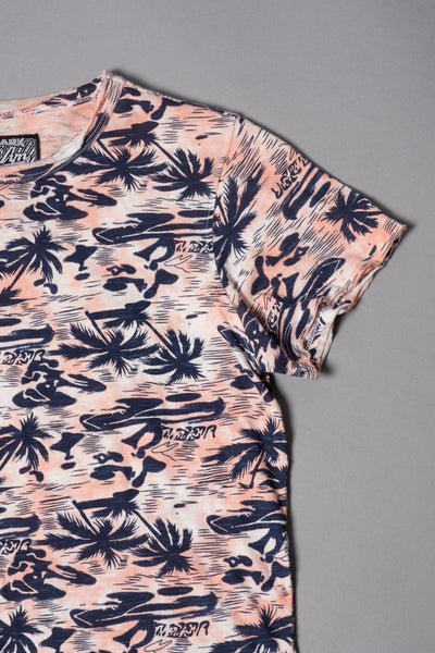 Boys Pink Palm Tree Graphic T-Shirt at Brooklyn Cloth