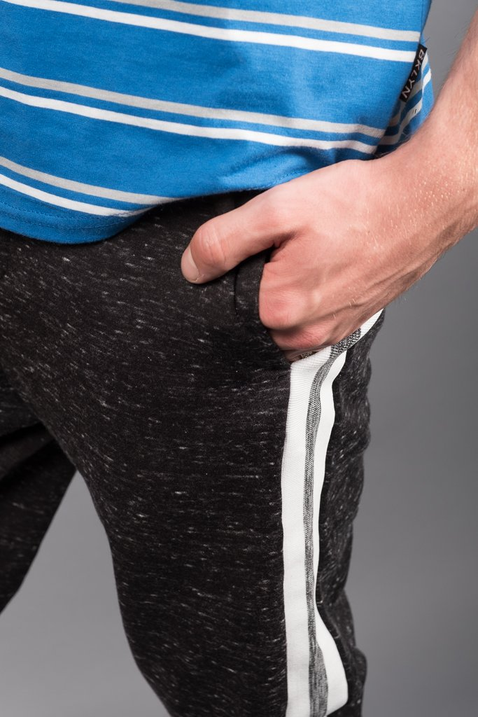 Black Snow Varsity Stripe Jogger Pants
