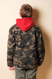 Brooklyn Cloth Camo Sherpa Jacket for Boys