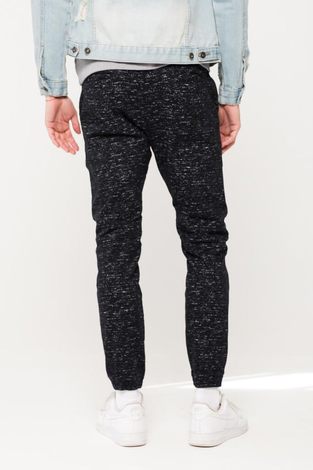 Brooklyn Cloth Black Space Dye Moto Twill Jogger Pants for Men