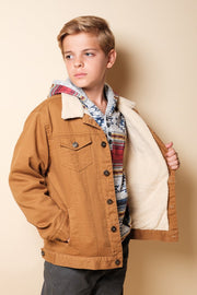 Boys Tobacco Sherpa Jacket