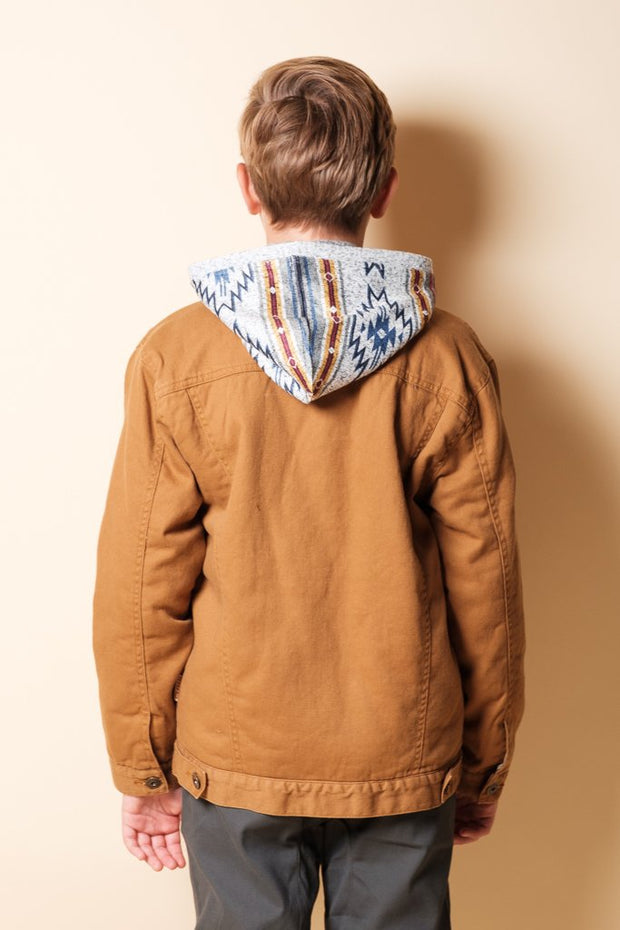 Brooklyn Cloth Tobacco Sherpa Jacket for Boys