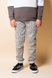 Boys Grey Marl Cozy Jogger Pants