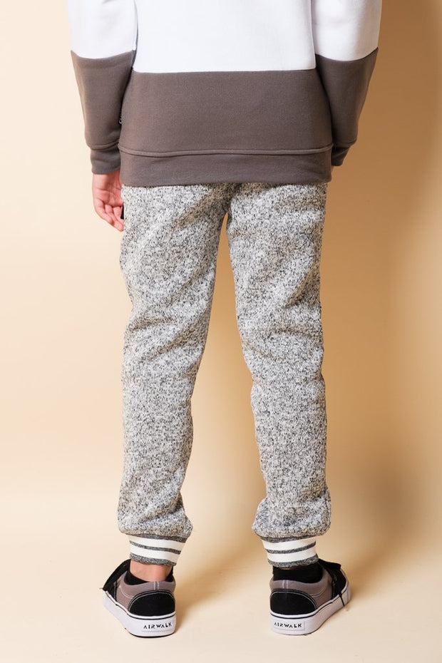 Brooklyn Cloth Boys Grey Marl Cozy Jogger Pants