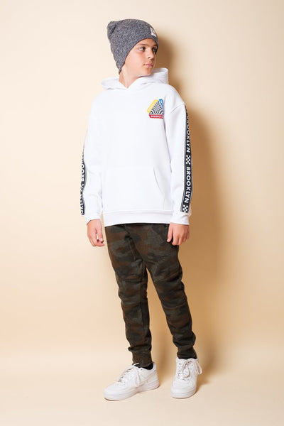 Boys Dark Camo Knit Jogger Pants