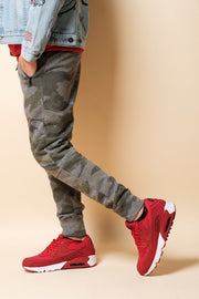 Boys Olive Camo Zip Pocket Knee Seam Jogger at Brooklyn Cloth