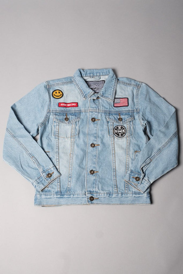 Boys American Flag Denim Jacket