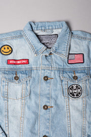 Boys American Flag Jean Jacket