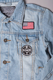 Boys American Flag Denim Jacket at Brooklyn Cloth