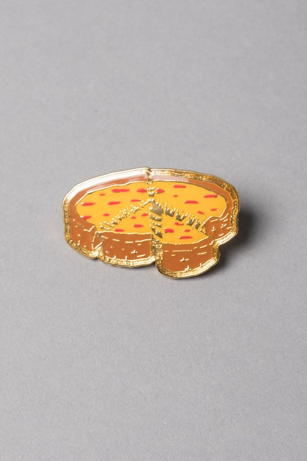 Pizza pin at Brooklyn cloth add to your backpack