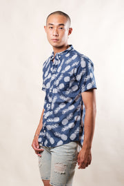 Navy Pineapple Woven Shirt