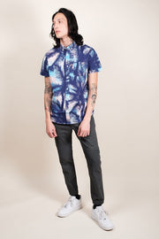 Brooklyn Cloth Blue Palm Tree Woven Shirt for Men