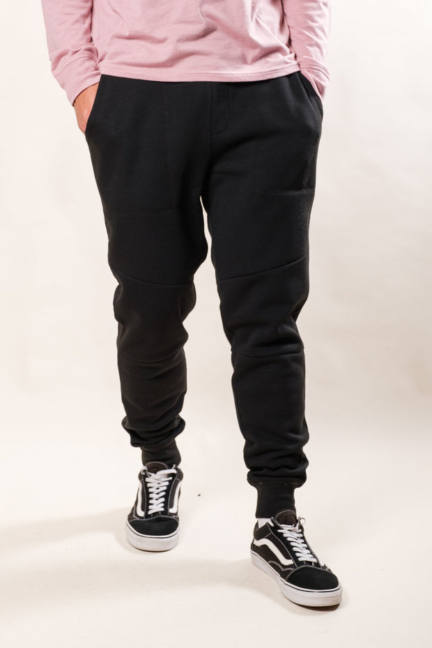 Black Core Fleece Jogger Pants