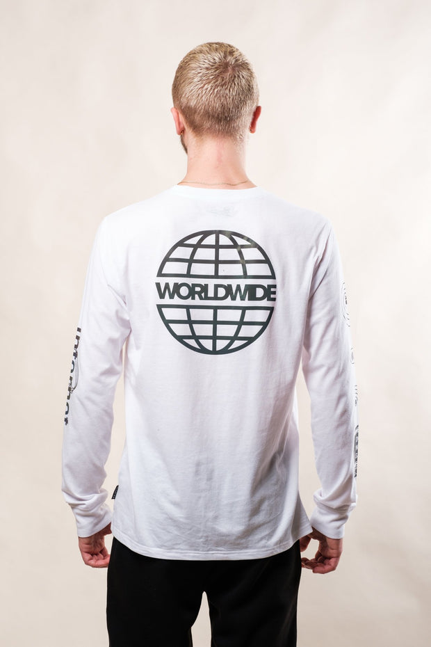 White World Wide Web Long Sleeve Tee