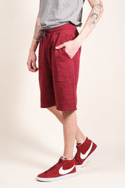 Burgundy Space Dye French Terry Jogger Short
